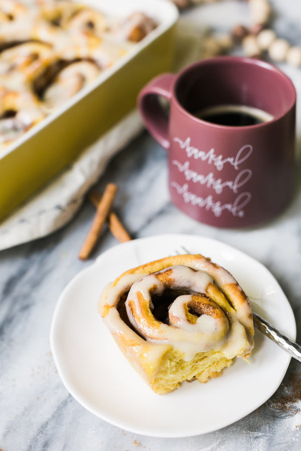 Overnight Pumpkin Cinnamon Rolls