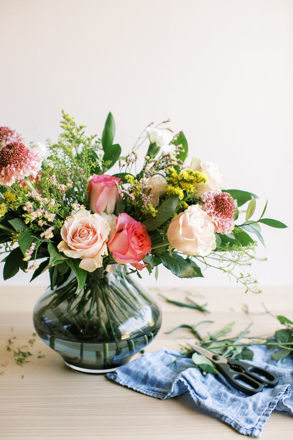 DIY Flower Arrangement Using a Store Bought Bouquet