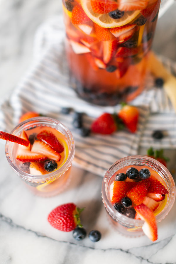 Strawberry & Blueberry Spring Sangria