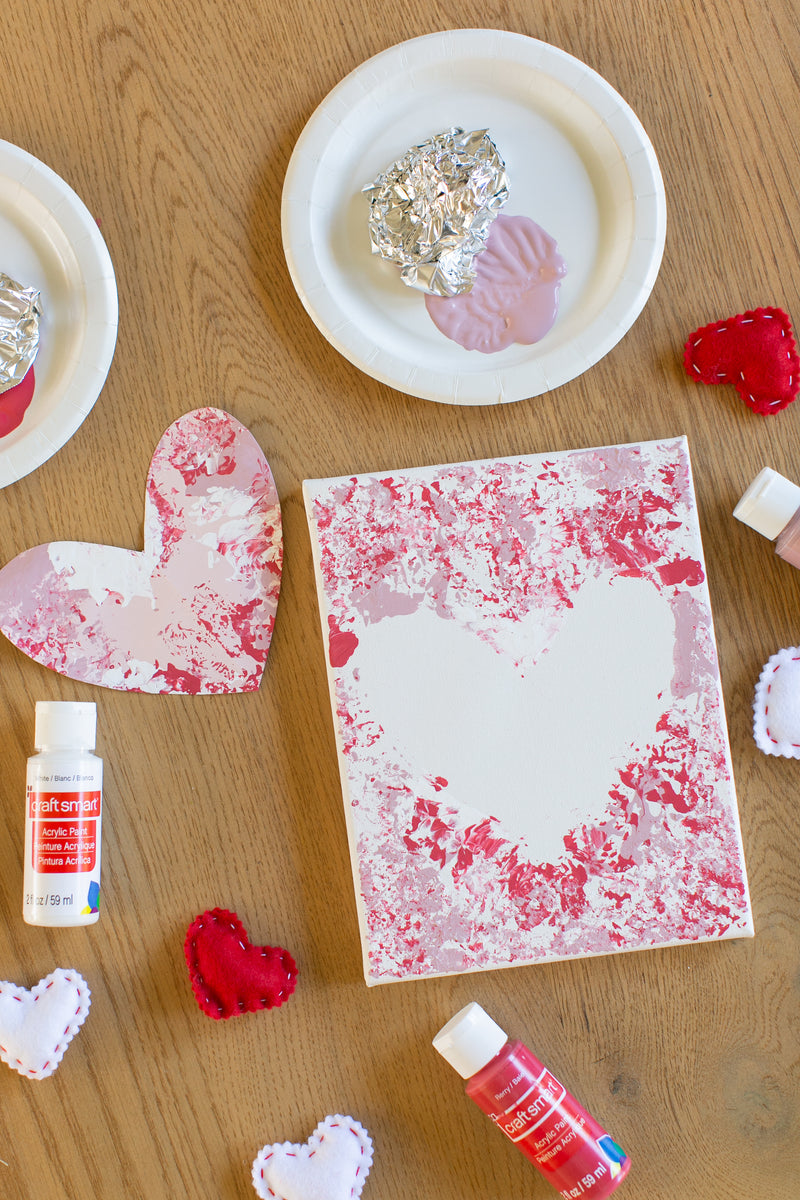 Foil-Stamped Heart Kid Craft