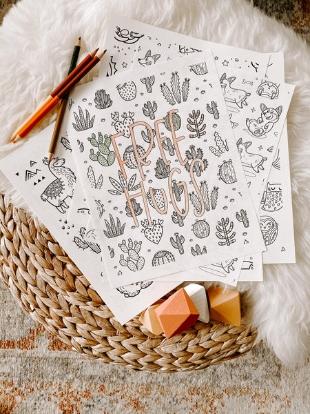 Coloring Pages + Downloads
