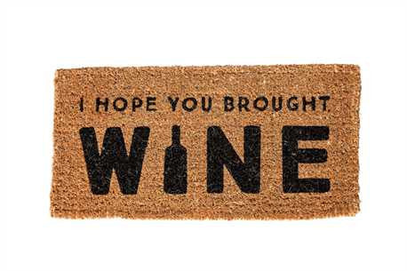 I Hope You Brought Wine Doormat - Chalkfulloflove