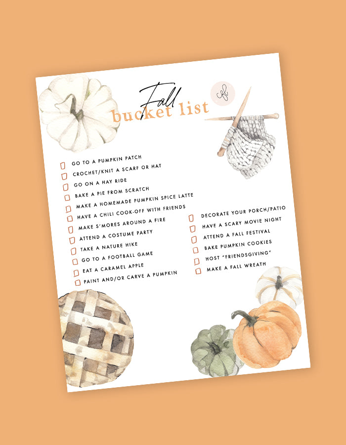 CFL Fall Bucket List - Free Download! - Chalkfulloflove