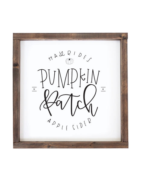 IMPERFECT: Pumpkin Patch Wooden Sign - Chalkfulloflove
