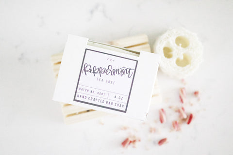 Peppermint Tea Tree Soap Bar - Chalkfulloflove