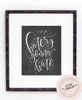 Haters Gonna Hate Chalkboard Print - INSTANT DOWNLOAD - Chalkfulloflove