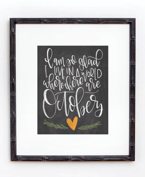 A World with Octobers Chalkboard Print - Chalkfulloflove