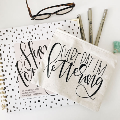 Hand Lettering 101 + Every Day I'm Lettering Kit