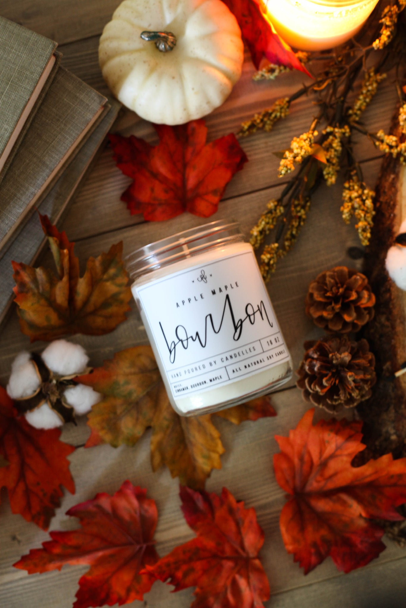 Apple Maple Bourbon Candle - Chalkfulloflove