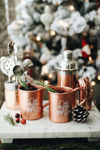 IMPERFECT Eat, Drink and be Merry Moscow Mule Set - Chalkfulloflove