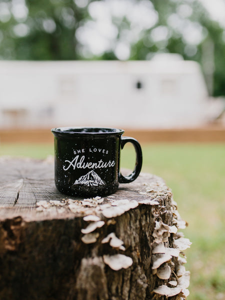 She loves Adventure Camper Mug