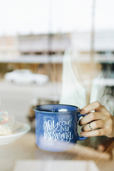 IMPERFECT Joy Comes in the Morning Camper Mug