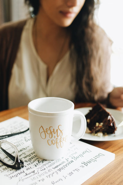 IMPERFECT: Jesus and Coffee Hand Lettered Mug