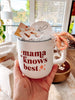 Mama Knows Best Mug + Earrings Gift Set - Chalkfulloflove