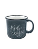Jesus and Coffee Camper Mug - Chalkfulloflove