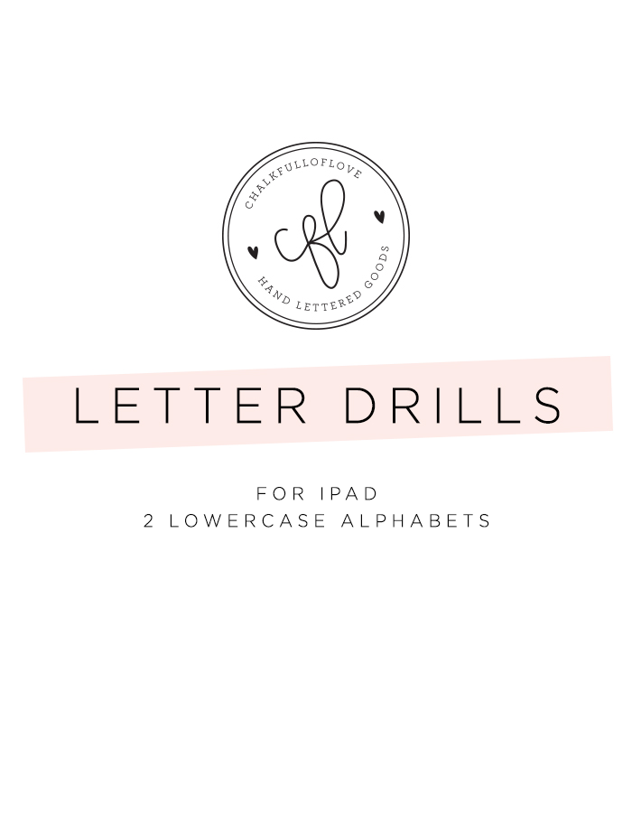 Letter Drills for iPad - Chalkfulloflove
