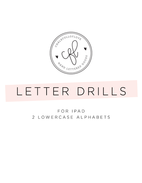 Letter Drills for iPad