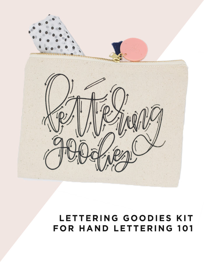 Lettering Goodies Kit for Hand Lettering 101 - Chalkfulloflove