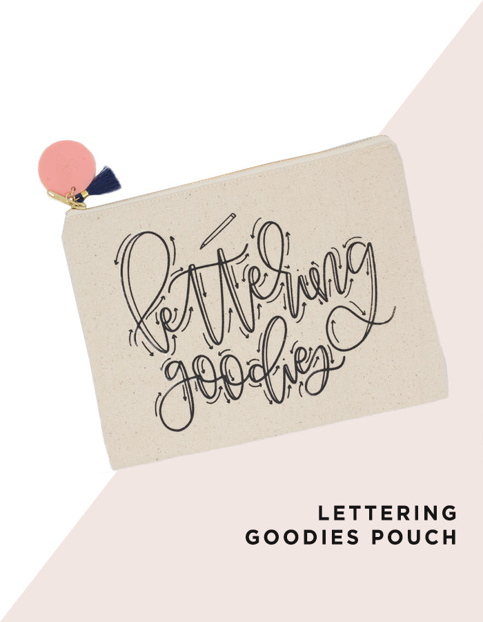 Lettering Goodies Pouch - Chalkfulloflove