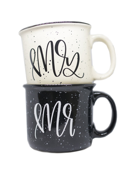 Mr and Mrs Camper Mug Set - Chalkfulloflove