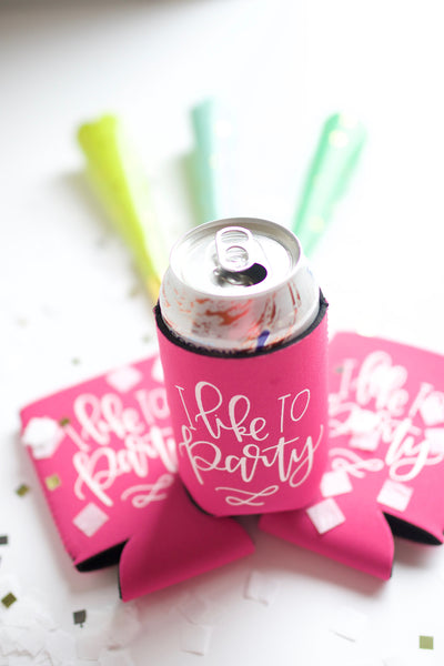 I like to Party Can Cooler - Chalkfulloflove