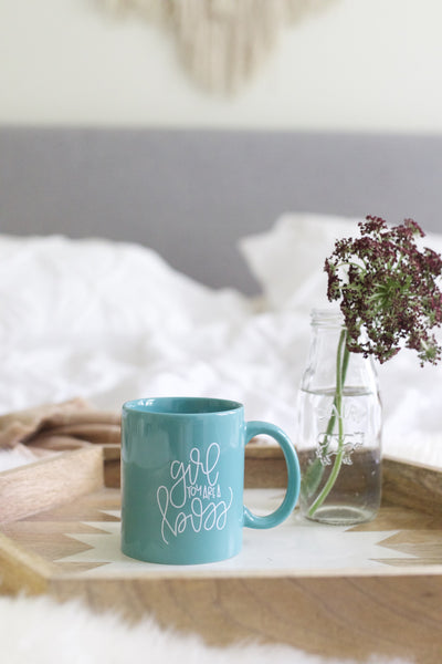 IMPERFECT: Girl You are a Boss Hand Lettered Mug - Chalkfulloflove