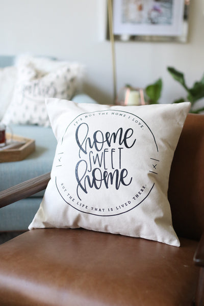 Home Sweet Home Farmhouse Pillow - Chalkfulloflove