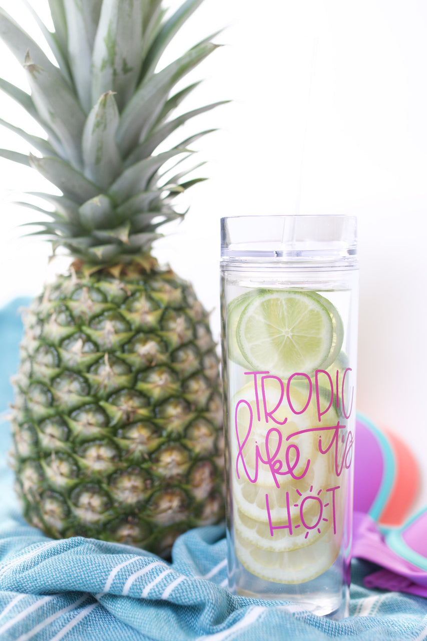 Tropic Like It's Hot Skinny Tumbler - Chalkfulloflove