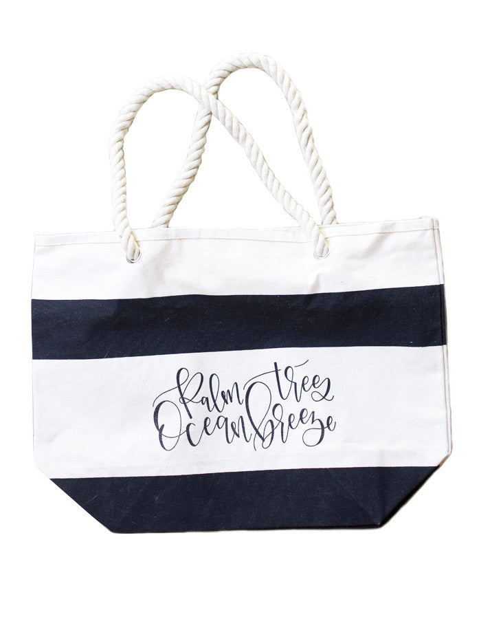 Palm Trees, Ocean Breeze Tote - Chalkfulloflove