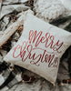 Merry Christmas Pillow Cover - Chalkfulloflove