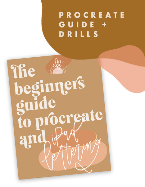 The Beginners Guide to Procreate + iPad Lettering (includes Letter Drills) - Chalkfulloflove
