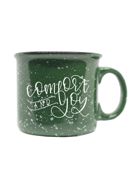 IMPERFECT Comfort & Joy Green Camper Mug