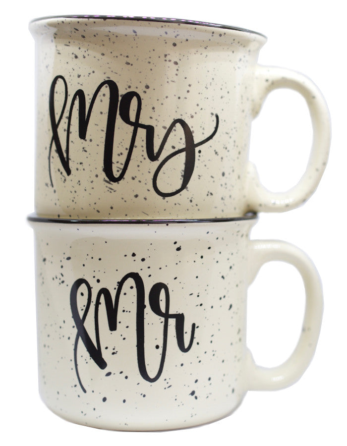 Mr. and Mrs. Camper Mug Cream Set - Chalkfulloflove