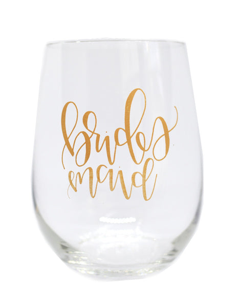 Bridesmaid Glasses - Chalkfulloflove