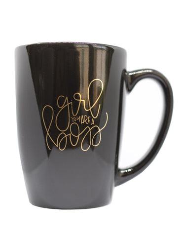 Girl You are a Boss Gold Foil Mug - Chalkfulloflove