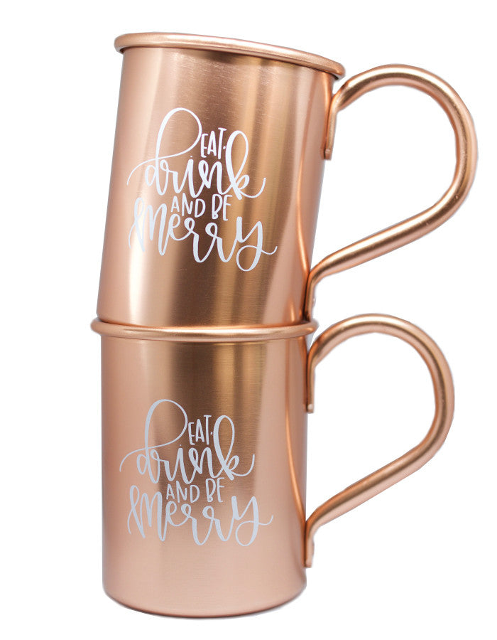 Eat, Drink and be Merry Moscow Mule Set - Chalkfulloflove