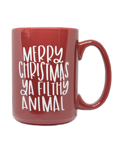 IMPERFECT Merry Christmas Ya Filthy Animal Mug