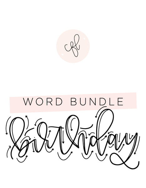 Word Bundle - Birthday Edition