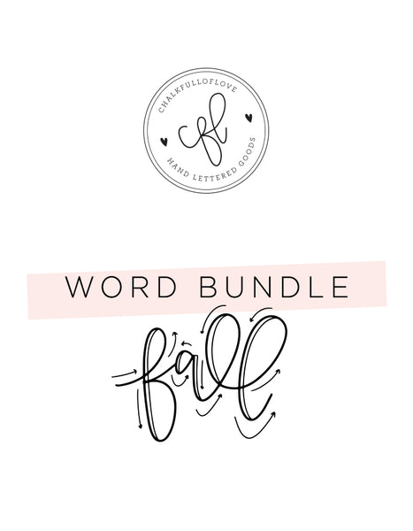 Word Bundle - Fall Edition - Chalkfulloflove