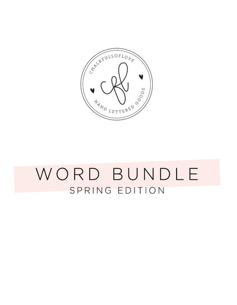 Word Bundle - Spring Edition