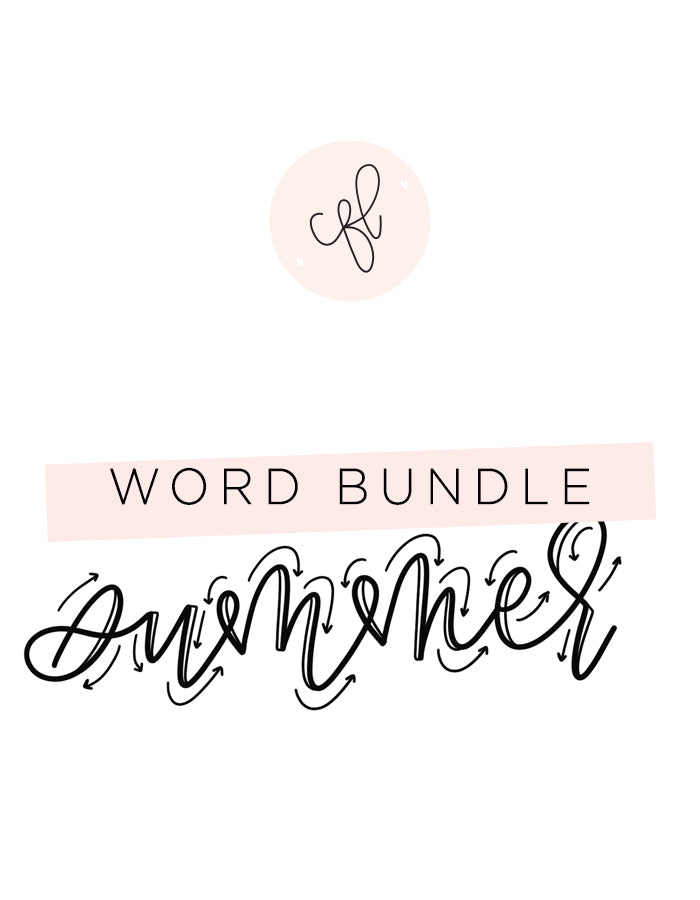Word Bundle - Summer Edition - Chalkfulloflove