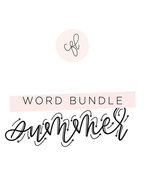 Word Bundle - Summer Edition