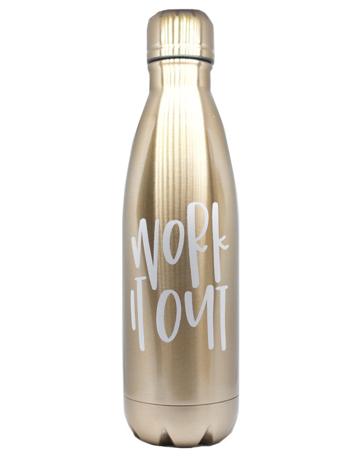 Work it Out Water Bottle - Chalkfulloflove