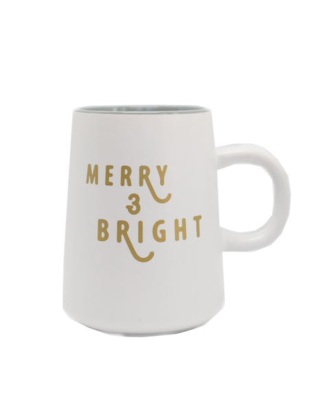 IMPERFECT Merry + Bright Modern Mug - Chalkfulloflove