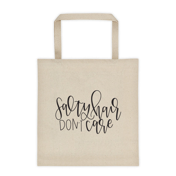 Salty Hair, Don't Care Tote bag - Chalkfulloflove