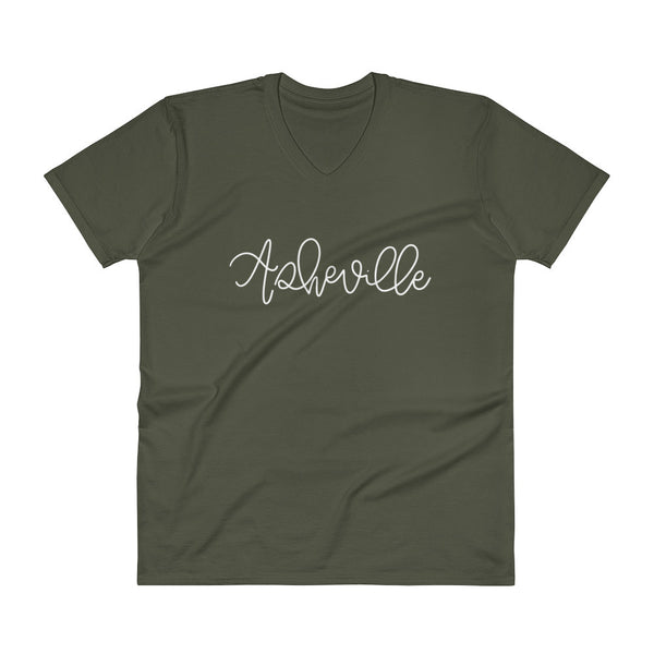 Asheville V-Neck City Tee