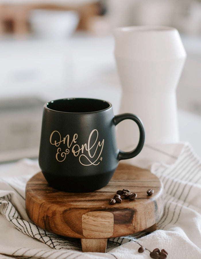 One and Only Black Matte Mug - Chalkfulloflove
