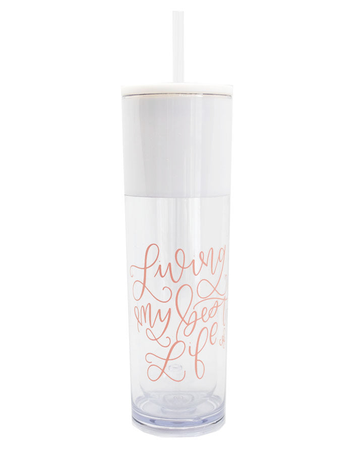 IMPERFECT Living My Best Life Tumbler - Chalkfulloflove
