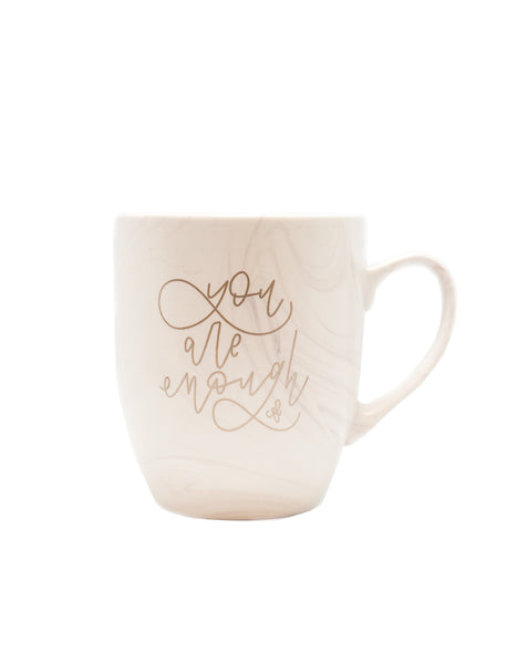 You are Enough Marble Mug - Chalkfulloflove