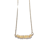 Rondelle Citrine Bar Necklace
